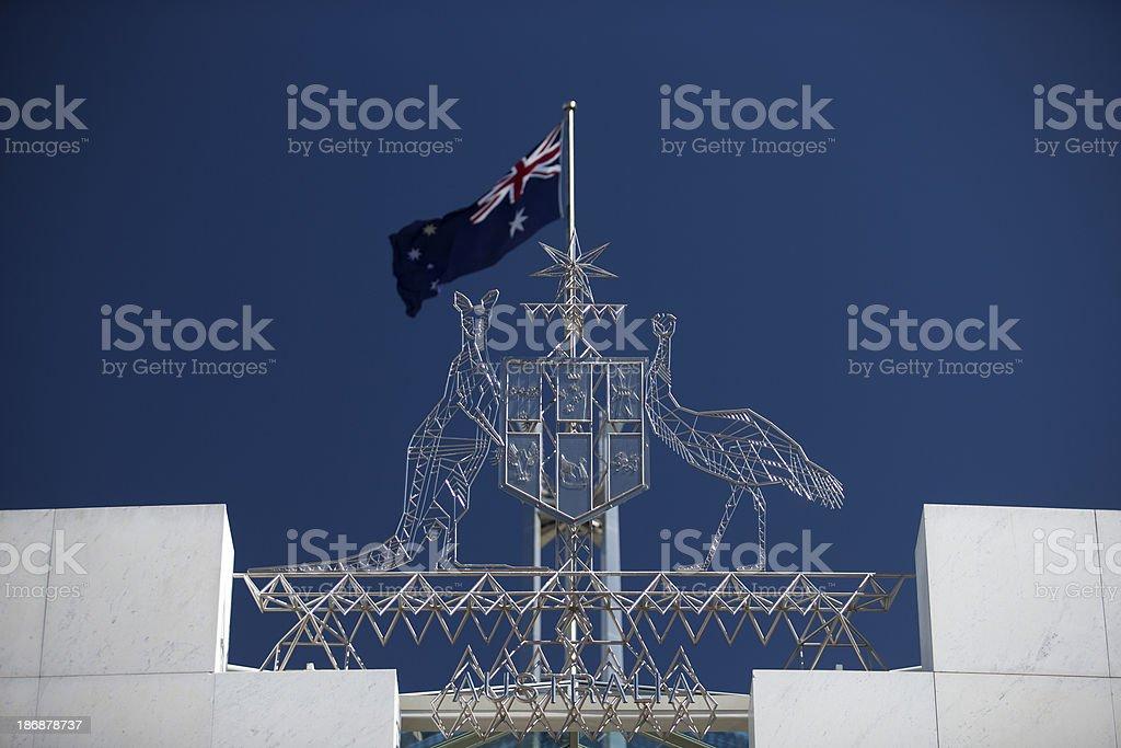 Australian Coat of Arms stock photo