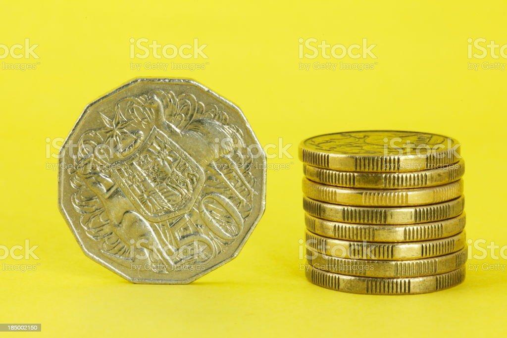 Australian Coins stock photo