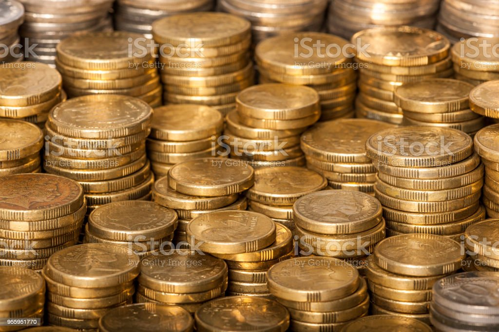 Australian Coins stock photo