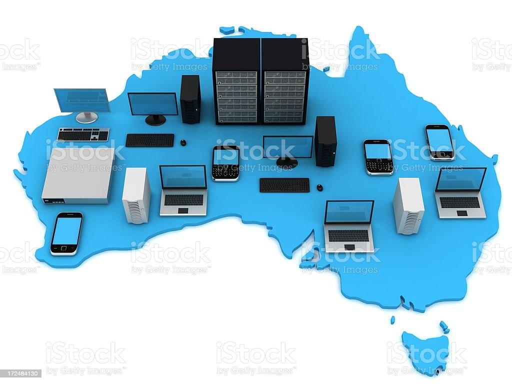 Australian computer network royalty-free stock photo
