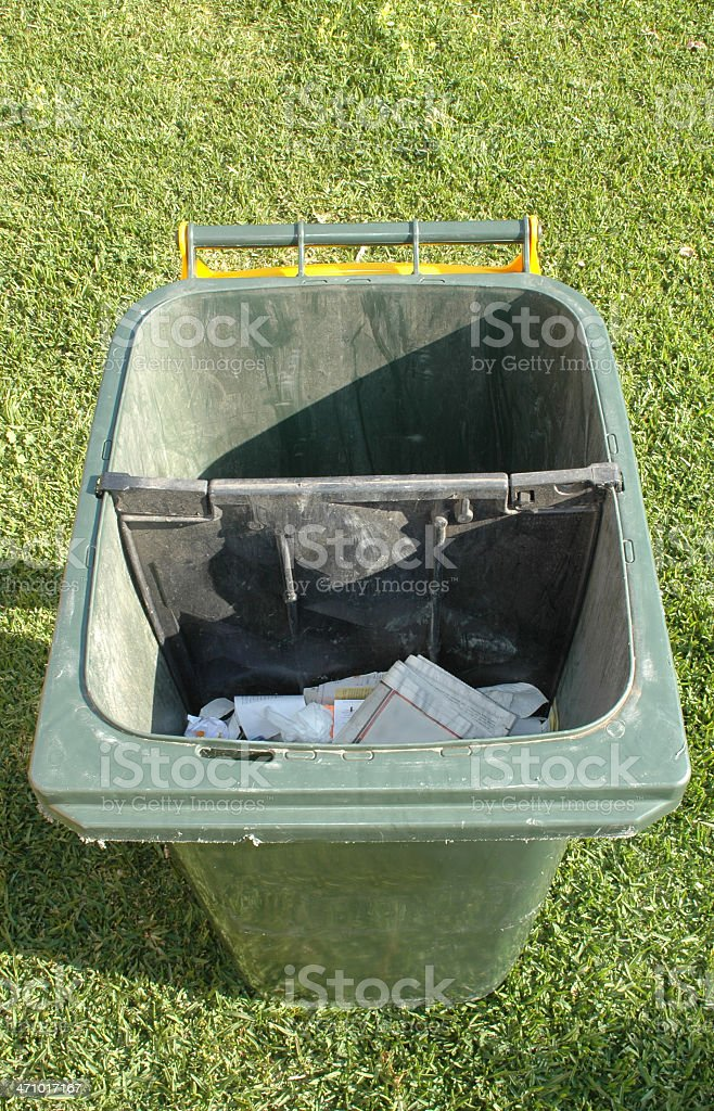 Australian council rubbish bin royalty-free stock photo