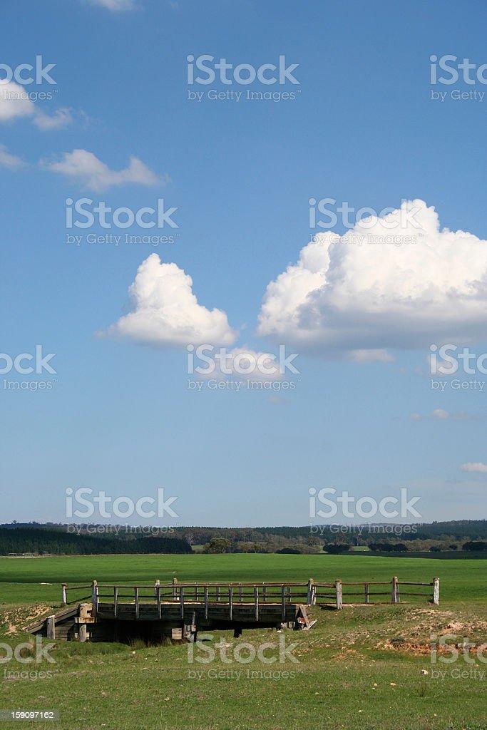 Australian Country Scene stock photo