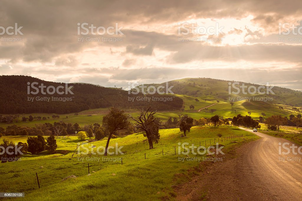 Australian countryside stock photo