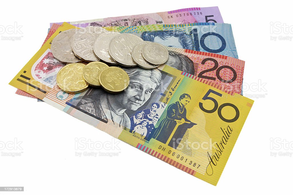 Australian curency royalty-free stock photo