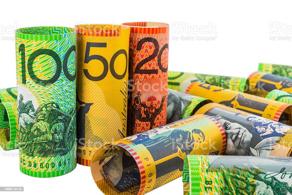 Australian currency stock photo