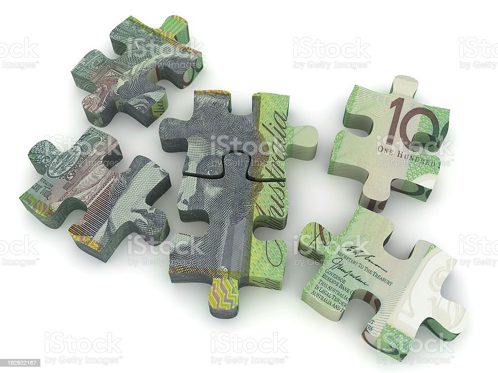 Australian Currency Puzzle royalty-free stock photo