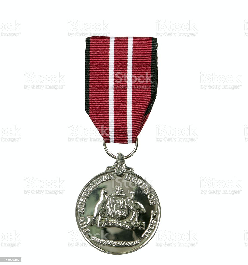 Australian defence medal stock photo