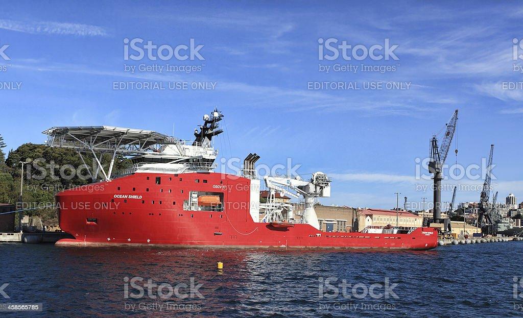 Australian Defence Vessel Ocean Shield stock photo