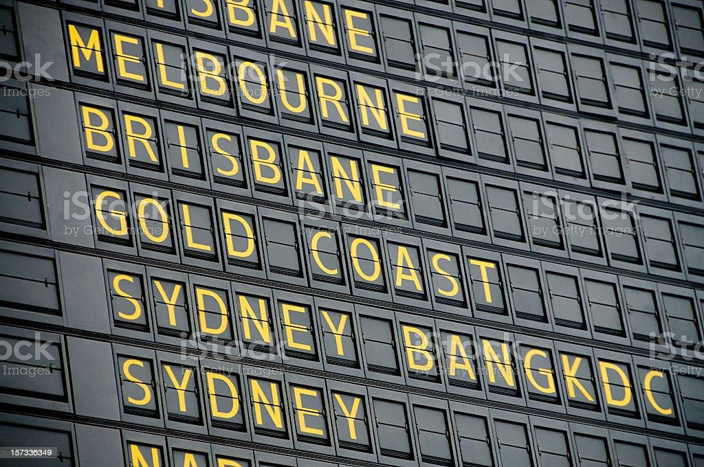 Australische Abreise-Board – Foto