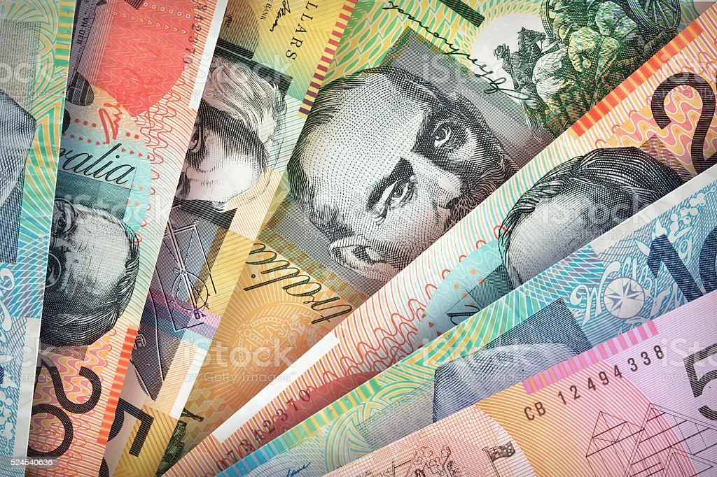 Australian Dollar Background stock photo