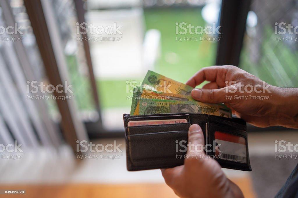 Australian Dollar Bills stock photo