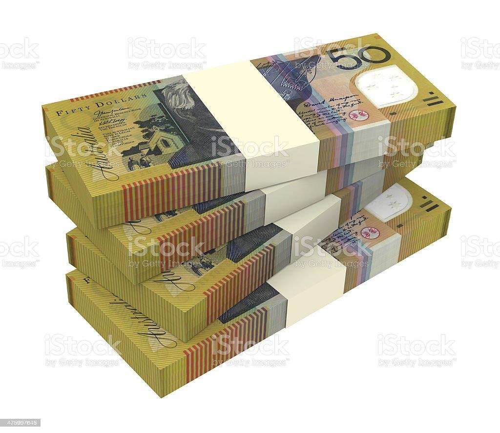 Australian dollar isolated on white background royalty-free stock photo
