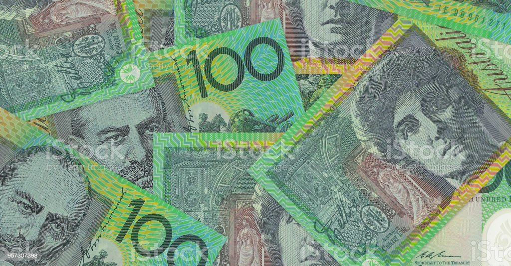 Australian dollar money background stock photo