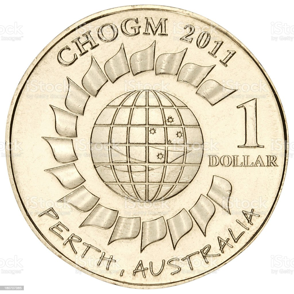 Australian dollar with clipping path on white background royalty-free stock photo