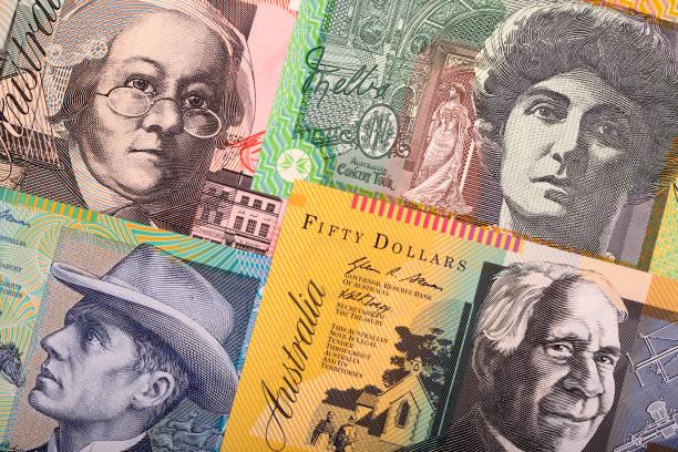 Australische Rand-Dollar, ein geschäftlicher Hintergrund – Foto