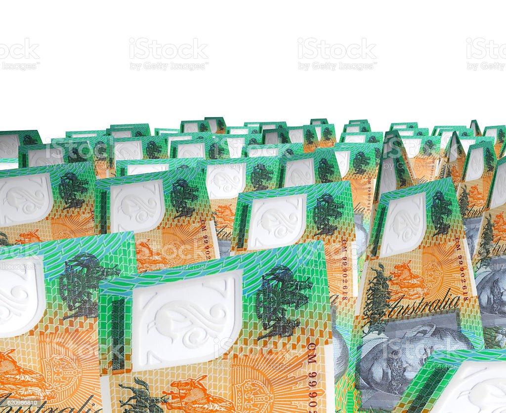 Australian Dollars Isolated on white foto royalty-free