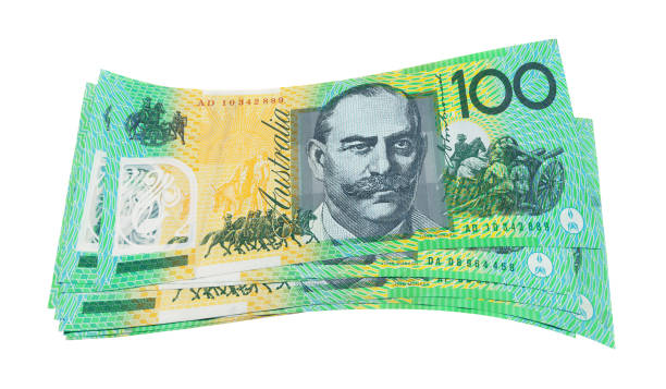 Australian Dollars isolated stock photo