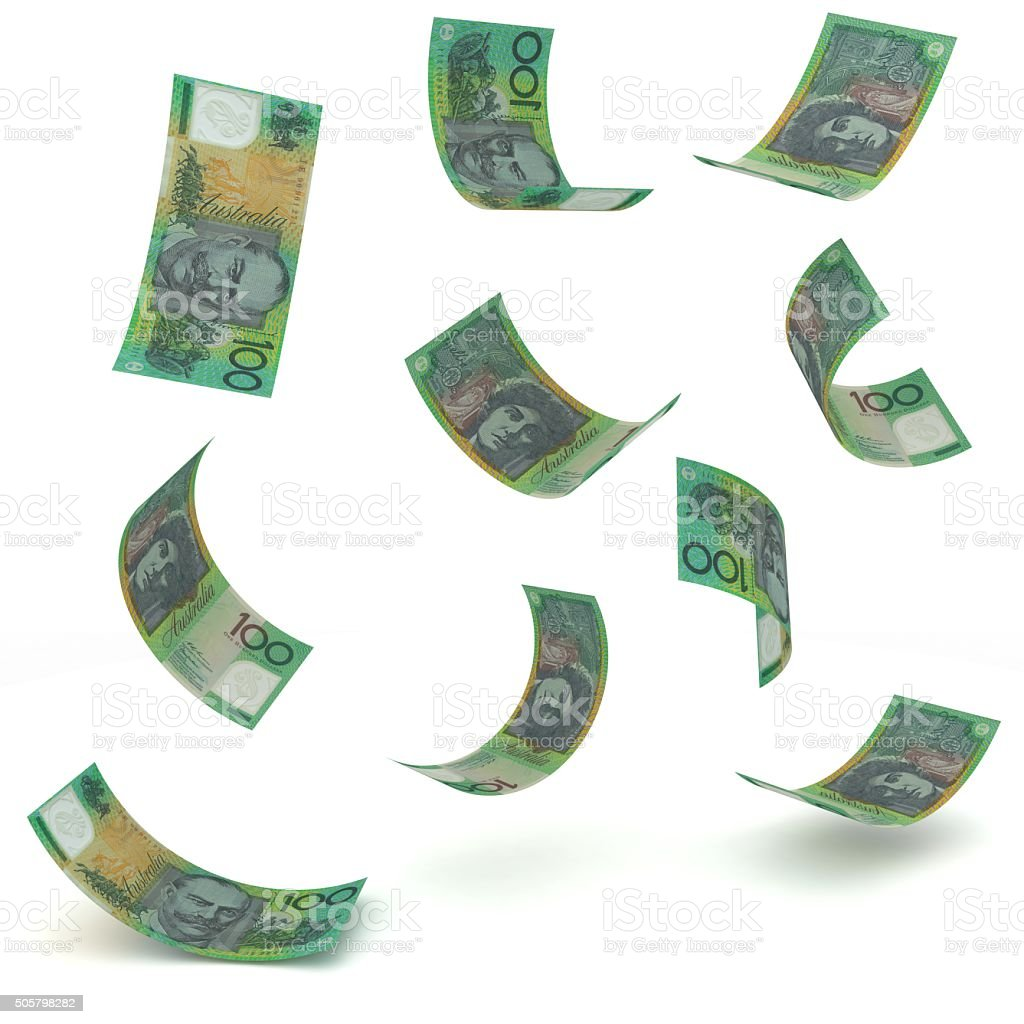 Australian dollars stock photo