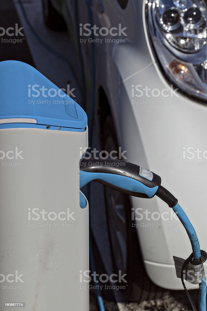Australian Electric car recharge station royalty-free stock photo