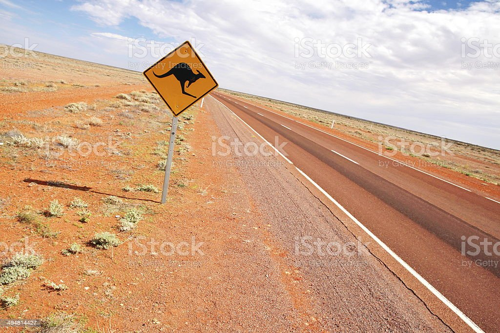 Australian endless roads stock photo