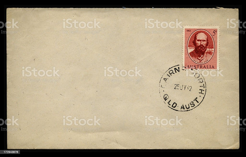 Australian envelope stock photo