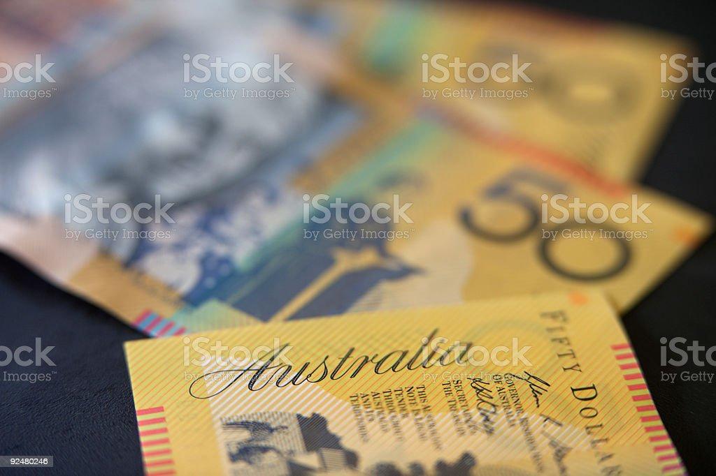 Australische Fünfzig dollar-Scheine Lizenzfreies stock-foto