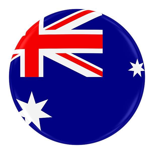Australian Flag Badge stock photo