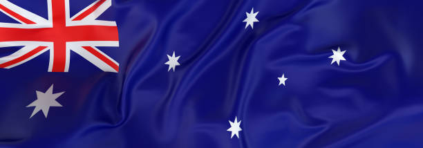 Australian Flag banner stock photo