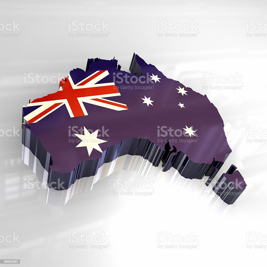 Australian flag map royalty-free stock photo