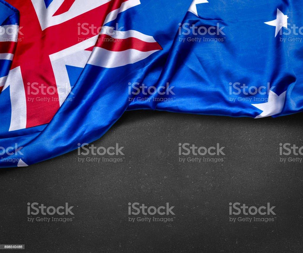 Australian flag on blackboard stock photo