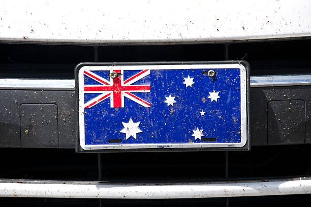 Australian flag on bumper stock photo