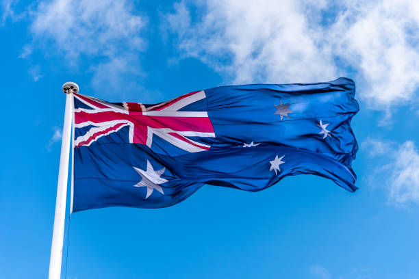 Australian Flag stock photo