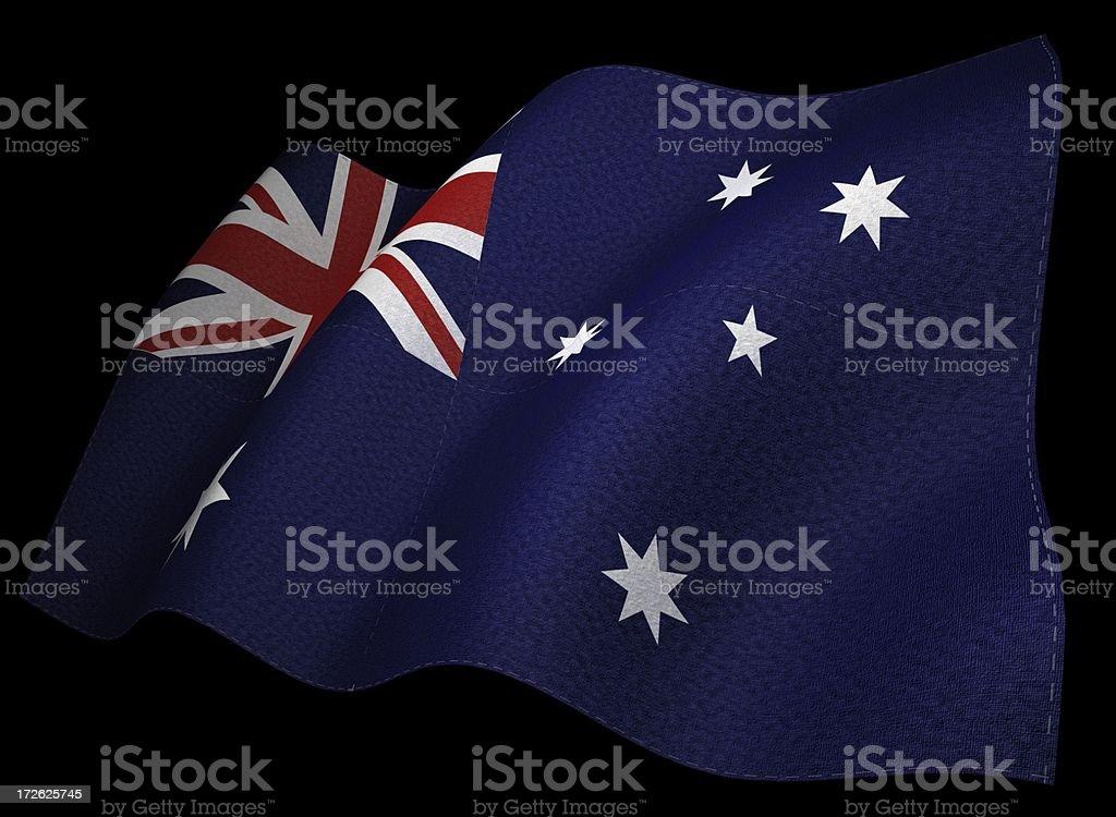 3D Australian Flag royalty-free stock photo