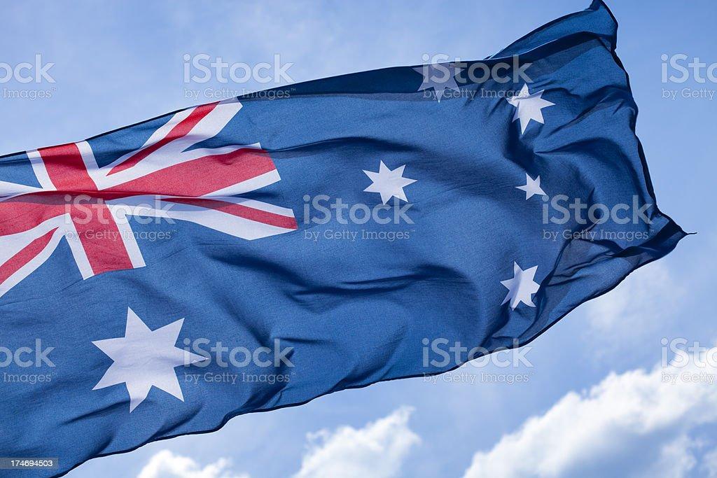 Australian flag royalty-free stock photo