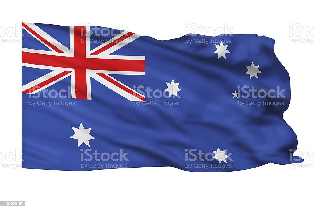 Australian Flag. stock photo