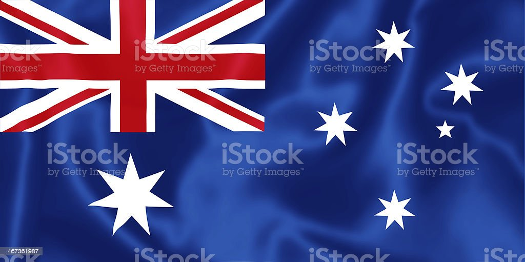 Australian flag. stock photo