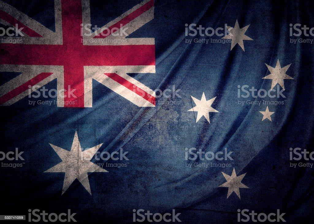 Australian flag stock photo