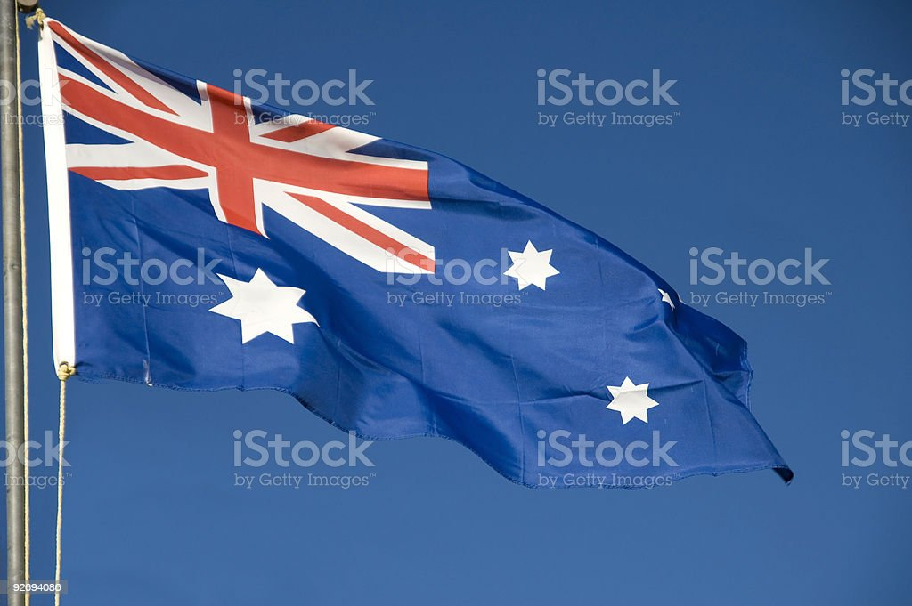 Australian Flag royalty-free stock photo