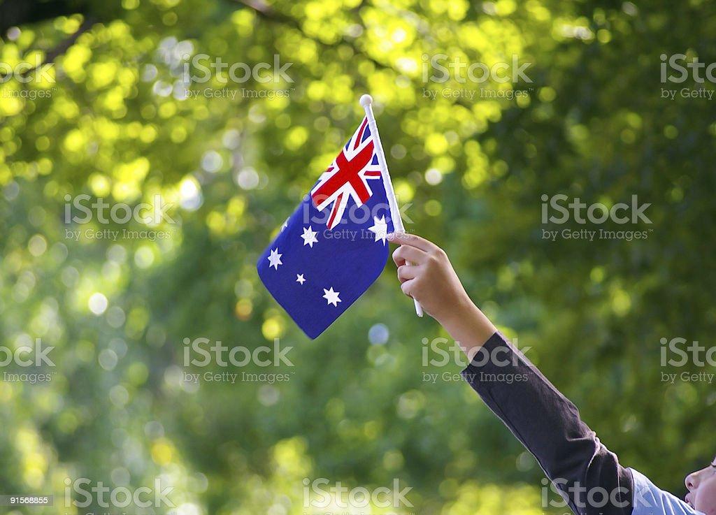 Australian flag waving royalty-free stock photo