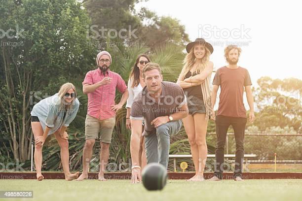 Australian friends enjoy playing lawn bowling picture id498580226?b=1&k=6&m=498580226&s=612x612&h=zyjkdhf9t4ip1f1zg92jqtdjc xakvg gwgty29q2eo=