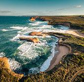 australian great ocean road coastline