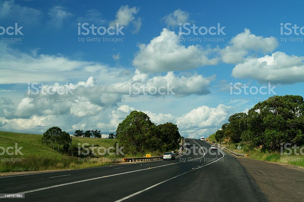 Australian Highway royalty-free stock photo