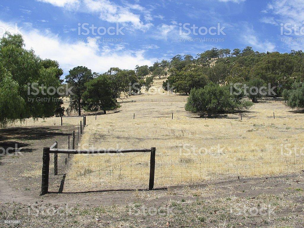 Australian hills rural scene royalty-free stock photo
