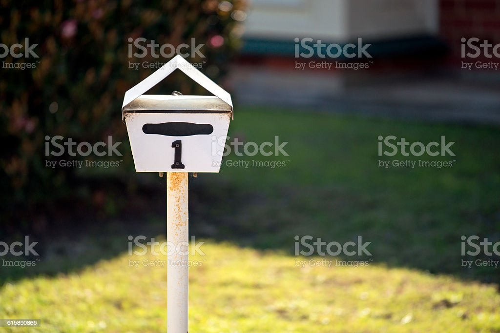 Australian home letterbox stock photo