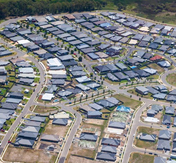 Australian Housing Development - Newcastle Australia stock photo