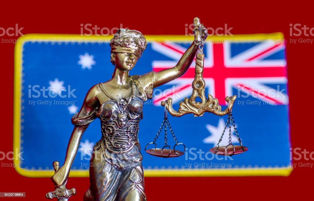 Australian Justice stock photo