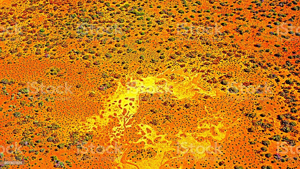 Australian Landscape: Parallels With Indigenous Art stock photo