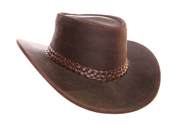 australie chapeau de cowboy en cuir - chapeau de cow boy photos et images de collection
