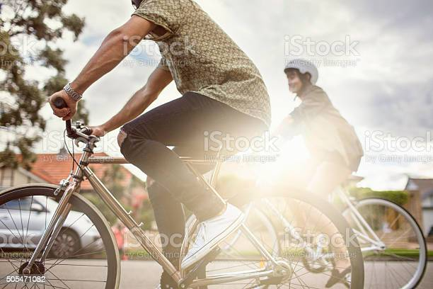 Australian mid adult couple riding bikes back home picture id505471082?b=1&k=6&m=505471082&s=612x612&h=wrknn 4ycestdld0ib1hr8fkdcr z9h0hktewnb b0i=