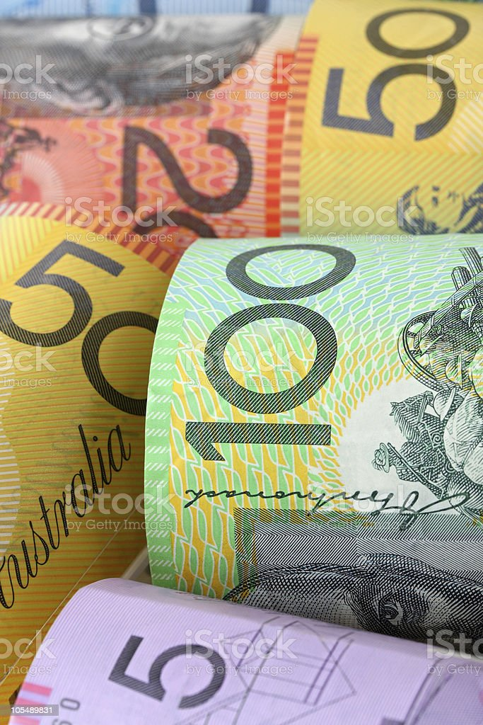 Australian Money Background royalty-free stock photo